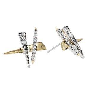 🆕Alexis Bittar Plaid Post Stud Earrings Shards